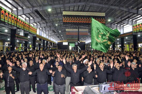 اجتماع بزرگ عزاداران امام حسین (ع) در مصلی رفسنجان برگزار شد + عکس