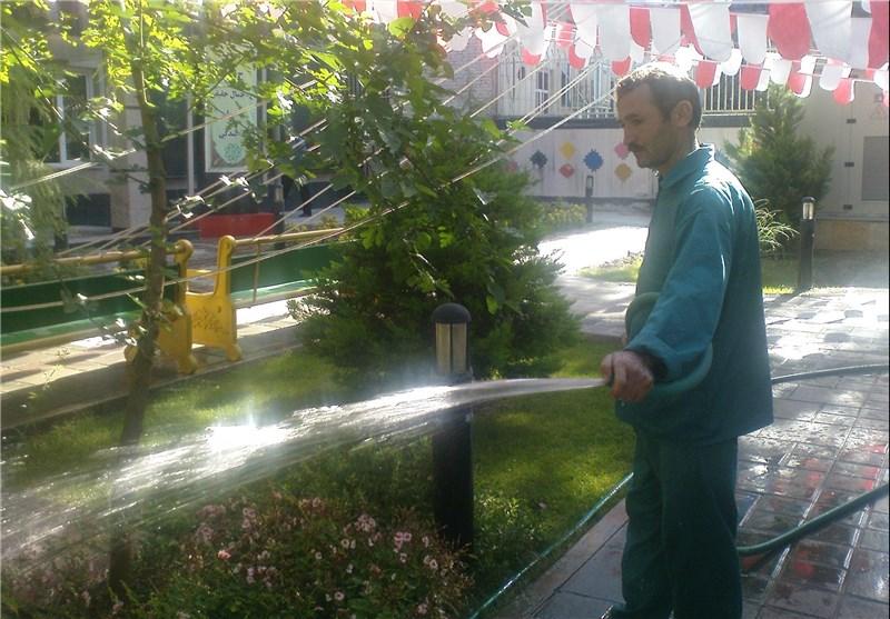 اضافه شدن ۳ حلقه چاه غیرشرب به انشعاب آبیاری فضای سبز رفسنجان