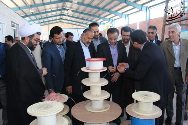 بزرگترین کارخانه تولید کابل فیبر نوری ایران در رفسنجان افتتاح شد + عکس