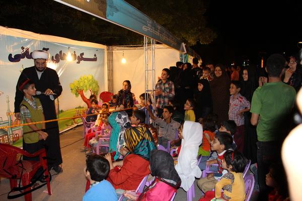نمایشگاه شب های آسمانی با حضور عمو روحانی در بوستان جوان