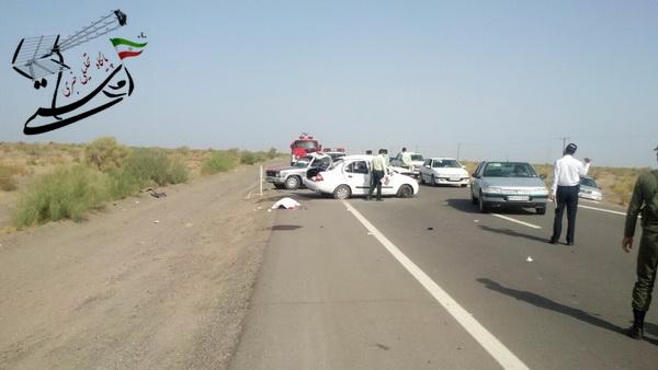 حادثه در جاده رفسنجان – کرمان ۲ کشته و ۵ مصدوم بر جای گذاشت