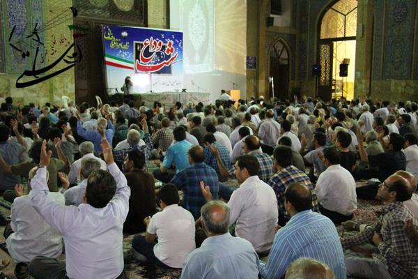 گزارش تصویری /شب وداع با ماه مبارک رمضان در مسجد جامع رفسنجان