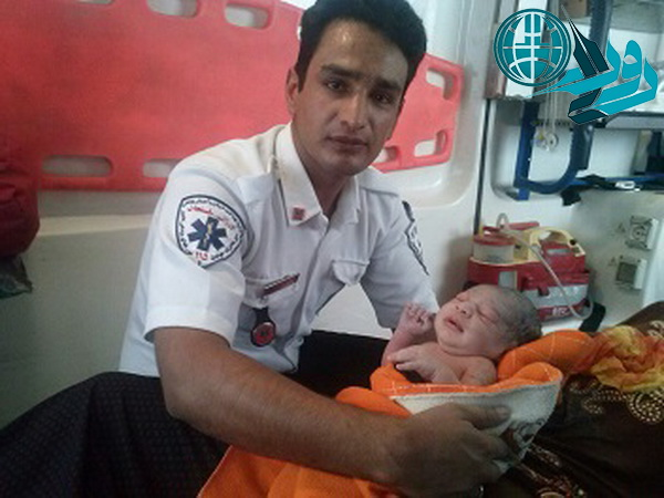 تولد یک نوزاد در آمبولانس اورژانس ۱۱۵ رفسنجان