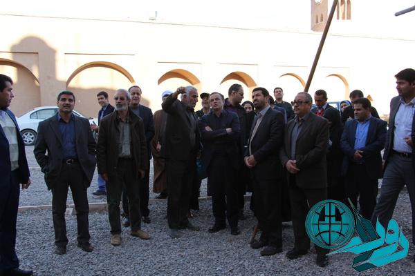 سومین بازدید استاندار از روند مرمت خانه حاج آقاعلی رفسنجان+عکس