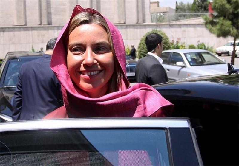 موگرینی وارد تهران شد