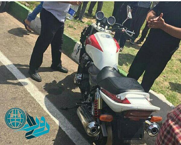 توقیف یک دستگاه موتورسیکلت سنگین ۱۳۰۰ سی سی در رفسنجان