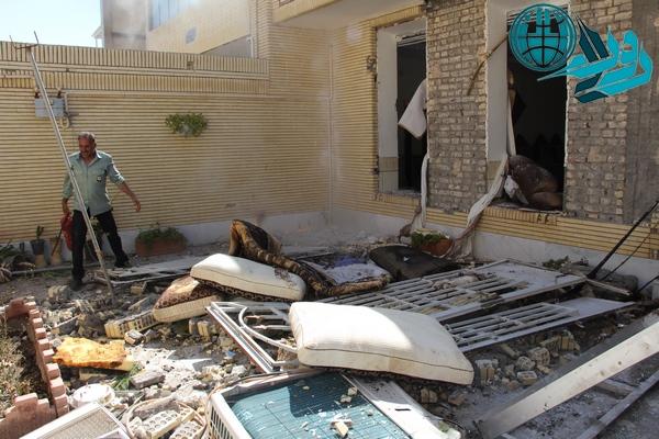 انفجار گاز شهری در منزل مسکونی در رفسنجان + تصاویر