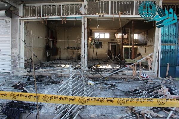 انفجار یک مغازه در رفسنجان+ عکس
