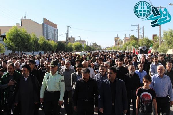 دوربین روراستی در مراسم تشییع شهید محمدصادقی