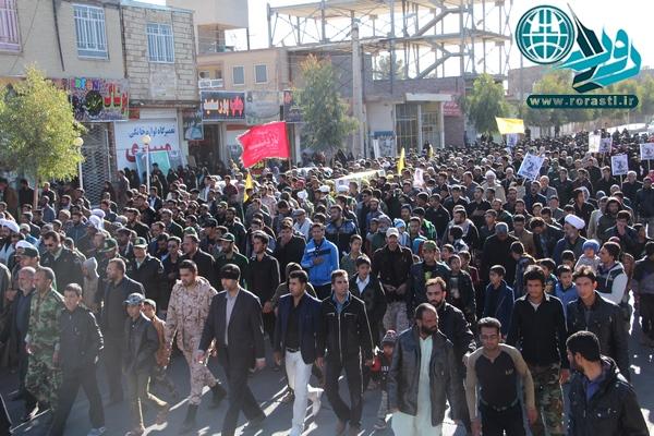تشییع شهید مدافع حرم جواد محمدی در رفسنجان/عکس