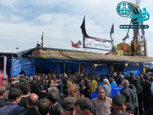 گزارش روراستی از خدمت رسانی موکب خاتم الانبیا به زائران پیاده امام حسین