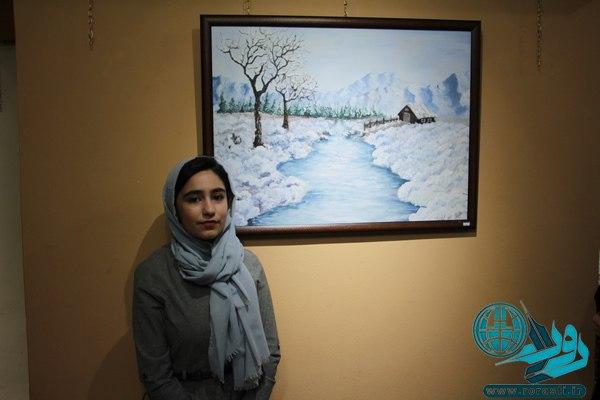 افتتاح نمایشگاه آثار هنرمند نوجوان رفسنجانی/ عکس