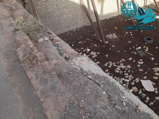 گودبرداری ۹ ساله در خیابان طالقانی رفسنجان و تخریب منازل اطراف+عکس