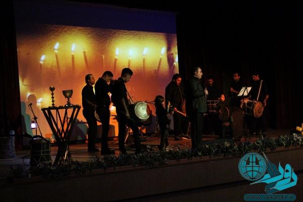 مراسم آیینی سنج و دمام در رفسنجان+تصاویر