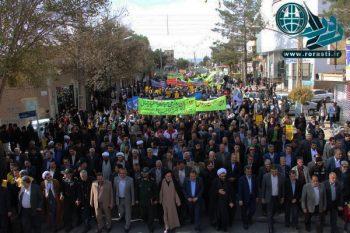 راهپیمایی مردم رفسنجان در روز ۱۳ آبان در قاب تصویر