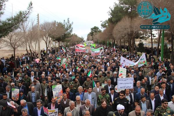 تصاویری از حماسه بی نظیر مردم رفسنجان در ۲۲ بهمن/مسؤولان قدر بدانند
