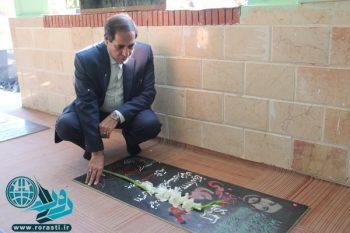 غبار روبی گلزار شهدا رفسنجان/تصاویر