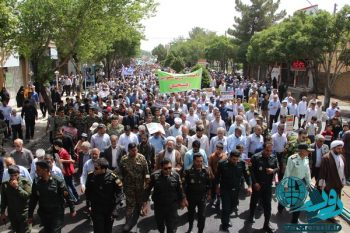 راهپیمایی با شکوه مردم رفسنجان در روز قدس/تصاویر