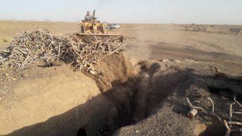 رفع تصرف ۳۱ کوره زغال سوزی غیر مجاز در رفسنجان/تصاویر
