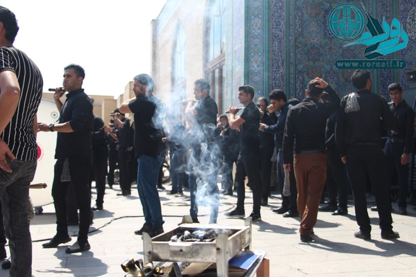 عزاداری های مردم رفسنجان در روز تاسوعا در مساجد و حسینیه ها در قاب تصویر