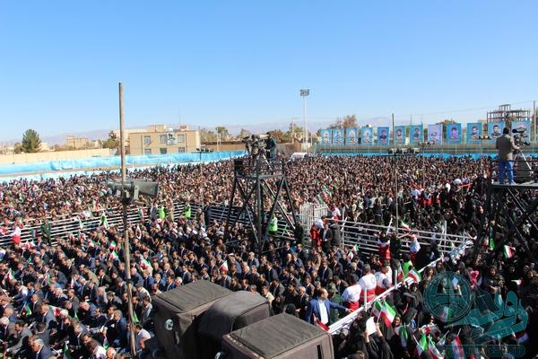 گزارش تصویری سفر روحانی به رفسنجان