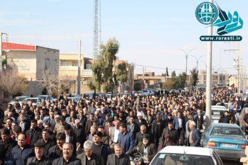 شهادت مظلومانه سردار سلیمانی مردم رفسنجان را به خیابان کشاند+تصاویر