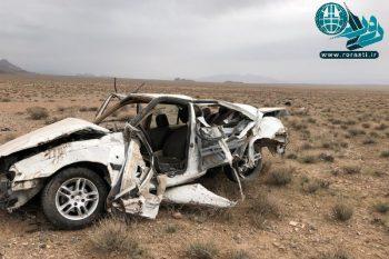 فوت دو جوان بر اثر واژگونی پژو در مسیر دره در به رفسنجان