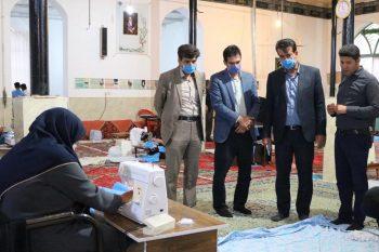 تولید روزانه ۴ هزار ماسک و توزیع خانه به خانه توسط موکب خاتمالانبیاء