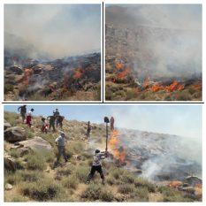 ۱۵ هکتار از مراتع راویز در آتش سوخت