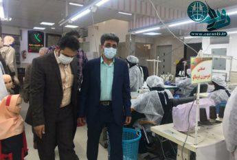 تأمین ۳۰ هزار ماسک مورد نیاز استان در کارگاه خیریه خیرین گمنام رفسنجان