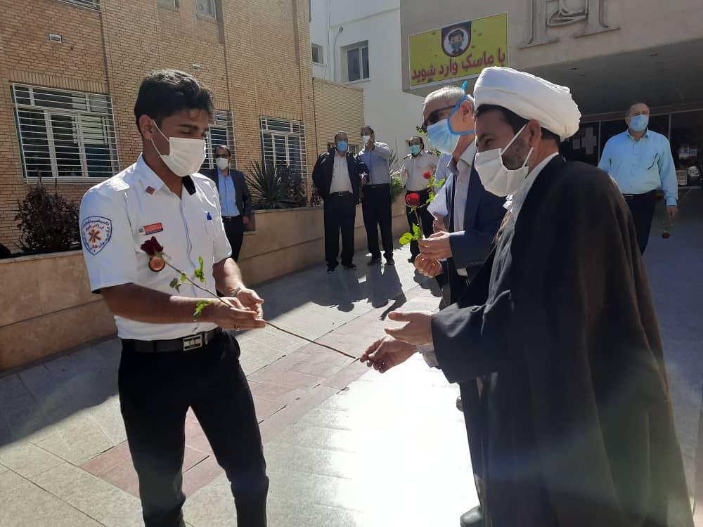 تجلیل مدافعان امنیت از مدافعان سلامت در رفسنجان +تصاویر