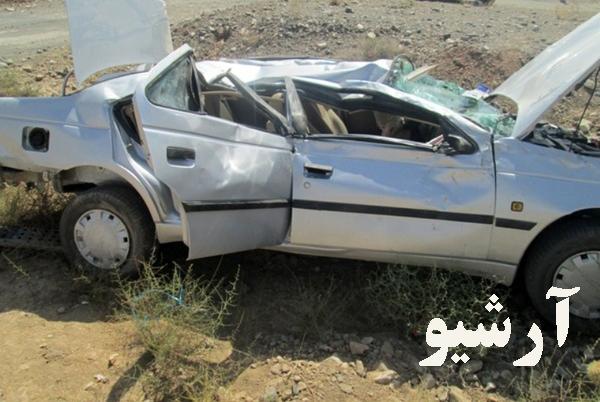 واژگونی خودرو حامل اتباع با ۵ کشته و زخمی در محور رفسنجان
