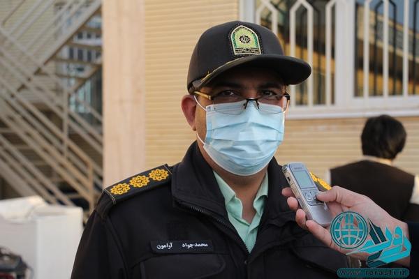 دستگیری سارق سیم و کابل برق در رفسنجان+تصاویر