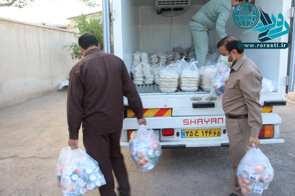 توزیع ۱۰۰۰ پرس غذای گرم بین نیازمندان رفسنجانی+تصاویر