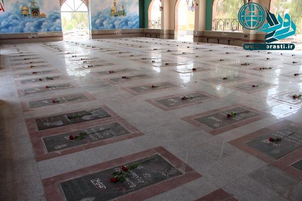 گزارش روراستی از وضعیت تأسف بار محوطه گلزار شهدای رفسنجان+تصاویر