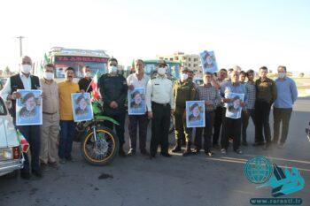 در رفسنجان|راه افتادن کاروان موتوری و خودرویی به شکرانه پیروزی