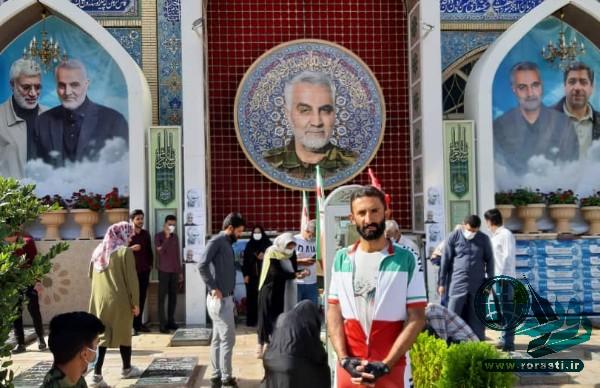 سفیر صلح و سلامت در رفسنجان: به عشق سردار دلها رای میدهم