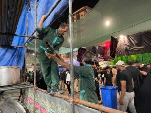 موکب های رفسنجانی در کربلا مستقر شدند+تصاویر